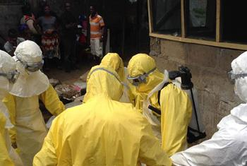 Frontline workers battling Ebola in West Africa.