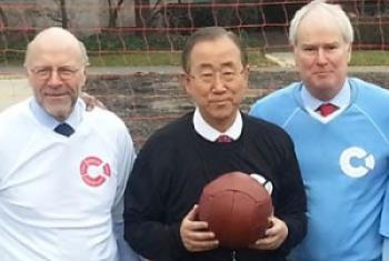 Ambassador Harald Braun, Secretary General Ban Ki-Moon and Sir Mark Lyall Grant/