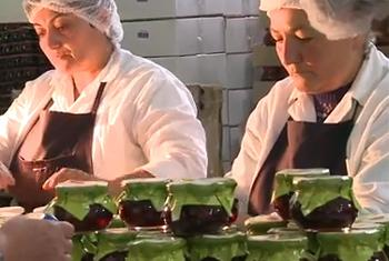 Cannery workers in Armenia. IFAD video capture.