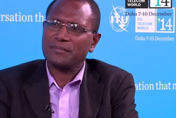 Fred Samuel, Chief Information Officer for the Office of the Prime Minister for the South Pacific island nation of Vanuatu. (ITU video capture)