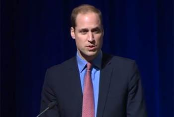 Prince William, the Duke of Cambridge, was at the World Bank in Washington, DC on 8 Dec 2014 to speak to more than 300 corruption experts, also known as corruption hunters, from more than 120 countries. (video capture)