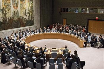 A wide view of the Security Council meeting. Photo/Loey Felipe