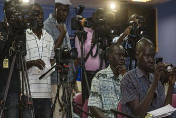 Members of the media in South Sudan.