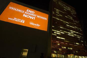 UN Headquarters was lit in orange during Orange YOUR Neighbourhood anti-violence campaign for the International Day to End Violence against Women.