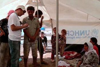 Displaced Iraqis (UNinAction video capture)