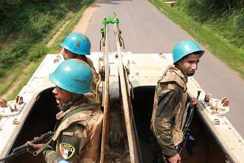 An Egyptian battalion patrol the surroundings of Camp Lieutenant General Jean-Lucien Bauma, DRC which is hosting former FDLR combatants. Photo MONUSCO/Abel Kavanagh