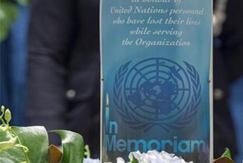 Annual memorial service for fallen UN staff members.