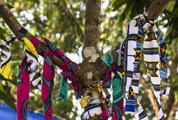 Survivor Tree at Ebola Treatment Centre in Port Loko, Sierra Leone.
