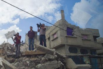 The pace of reconstruction in Gaza remains slow.