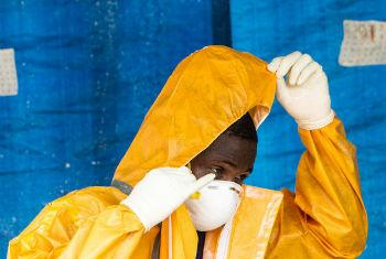 Ebola Treatment Unit, Sierra Leone.