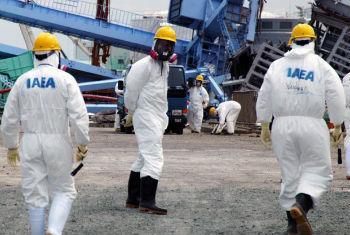 IAEA team at the Fukushima Nuclear Power Plant.