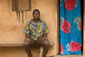 Stateless young man, village of Saria, Côte d'Ivoire.