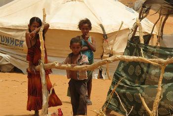 Mbera refugee camp, Mauritania, in the Sahel region of Africa.
