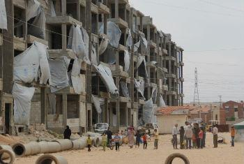Tishreen camp for displaced Syrians in Aleppo.