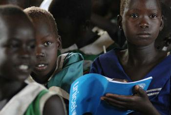 Children attending a class in South Sudan in 2012. The year 2014 was the worst time to be a child living in a violent and insecure country.