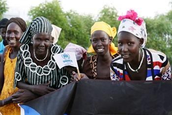 A group of displaced Somali women residing at the Ifo 2 Refugee Camp in Dadaab, Kenya, which is supported by the United Nations High Commissioner for Refugees (UNHCR).