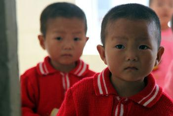 Children at the WFP, UNICEF-supported Provincial Baby Home in Hamhung City, the Democratic People's Republic of Korea (DPRK).