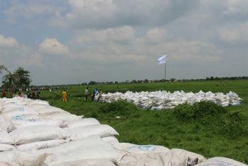 Distribution Point: Humanitarian Aid Reaches Remote Community in South Sudan.