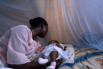 Protective mosquito nets such as the one above in Ghana are an essential element of the global campaign against the disease.