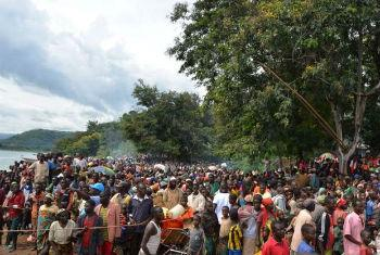 UNHCR is working to relocate thousands of Burundians who have fled to Tanzanian territory on Lake Tanganyika.