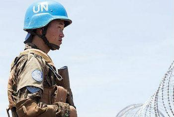 A peacekeeper with the UN Mission in South Sudan (UNMISS).