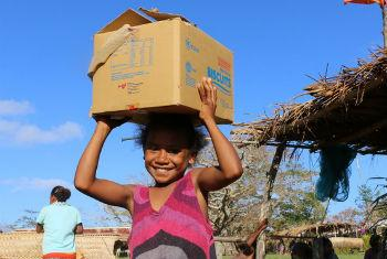 The World Food Programme (WFP) and humanitarian partners are supporting Government distributions, supplementing food packages with rice and high-energy biscuits.