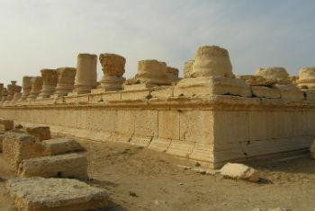 The Syrian archaeological site of Palmyra.