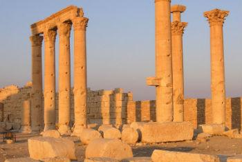 The archaeological site of Palmyra in Syria.