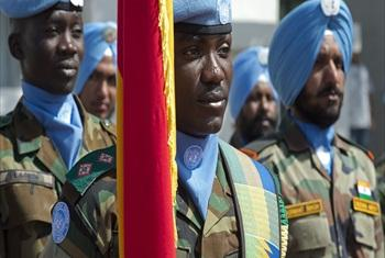 UNIFIL peacekeepers at the ceremony to commemorate International day of Peacekeepers at Naquora HQ. May 29th, 2015. Photo by Pasqual Gorriz (UN)