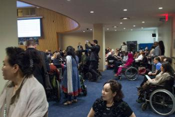 Participants of the Eighth Conference of States Parties to the Convention on the Rights of Persons with Disabilities, on the first day of the Conference.