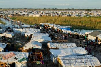 The Protection of Civilians (POC) site near Bentiu, in Unity State, South Sudan.