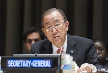 Ban Ki-moon speaks at the opening of the High-level event on the Demographic Dividend and Youth Employment.