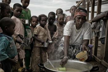 Adama, refugee from the Central African Republic and the resident cook at Gado-Badzere refugee camp in Cameroon. The Central African Republic is now the world's eighth-largest refugee source country. UNHCR File Photo/O.Laban-Mattei