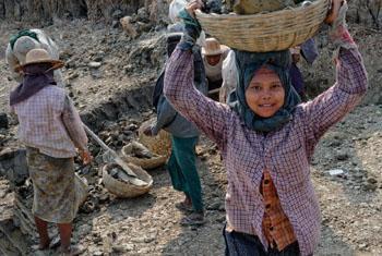 Child labour in Myanmar.