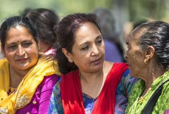Lily Thapa (centre). Credit UN Women/Samir Jung Thapa