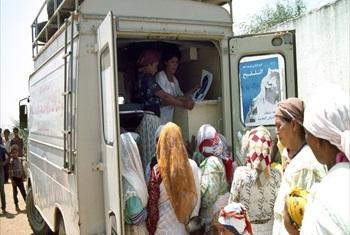 Mobile clinic in Khemisset Province, Morocco.