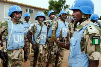 UNAMID troops in East Darfur.