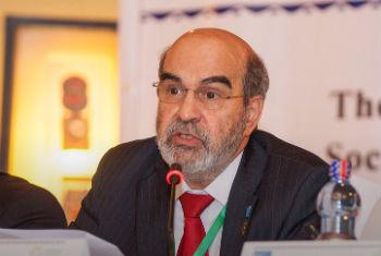 FAO Director-General José Graziano da Silva at the Third International Conference on Financing for Development. FAO Photo/Zacharias Abubeker