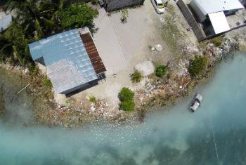 Coastal erosion remains a critical environmental issue for many of the islands in the Maldives.