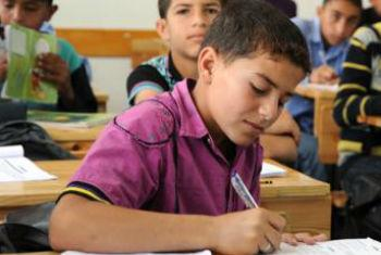 UNRWA is facing an unprecedented financial crisis which could force Palestinian children across the Middle East out of school. File