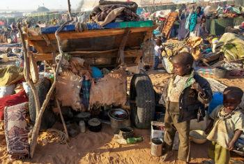Following attacks in January 2015, thousands of people, mostly women and children, fled from different villages and took refuge at a safe zone adjacent to UNAMID's base in Um Baru, North Darfur.