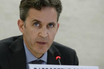 David Kaye, Special Rapporteur on Freedom of Opinion and Expression Addresses Human Rights Council. UN File Photo/Jean-Marc Ferré