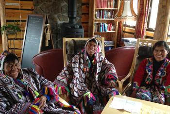 Peruvians in Svalbard: representatives of indigenous Andean communities will deposit 750 potato seeds.