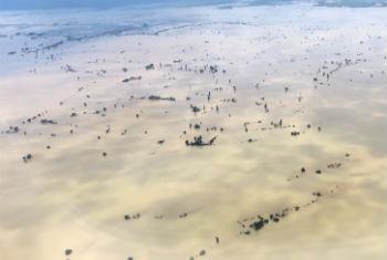 Flooded fields in Kale Township in the Sagaing Region of Myanmar.