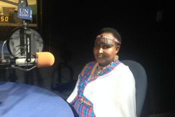 Dr Pricilla Migiro at UN Radio.