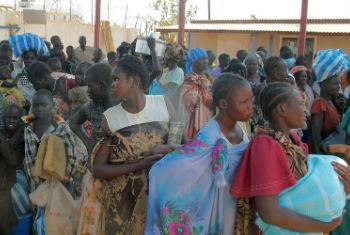 Civilians seek refuge at a compound of the UN Mission in South Sudan.
