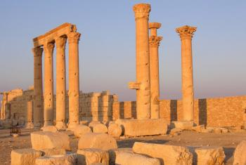 Archaeological site of Palmyra in Syria.