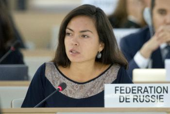 The Russian delegation's Maria Khodynskaya-Golenishcheva said stopping rights violations was not possible without defeating jihadists.
