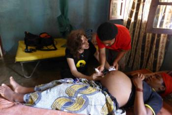 Dr. Laura Stachel at the Mase Health Centre in Malawi. Photo