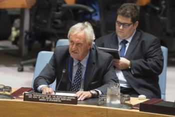 Nicholas Haysom, Special Representative of the Secretary-General and Head of the United Nations Assistance Mission in Afghanistan (UNAMA), addresses the Security Council meeting on the situation in that country and its implications for international peace